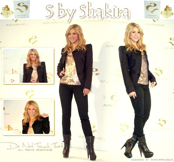 """.  .  Launch of fragrance """"S by Shakira"""" .  ."""