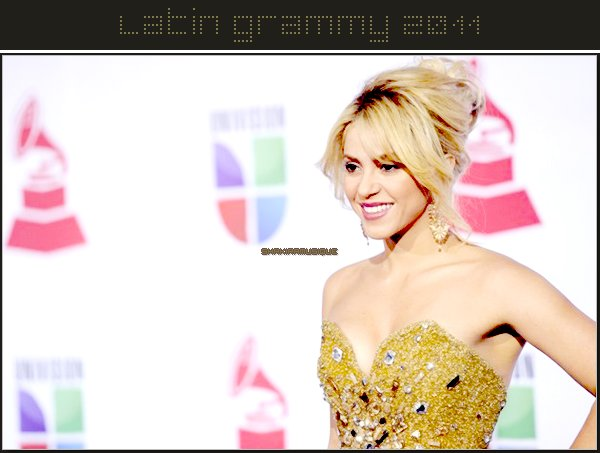 .  .  Shakira at The Latin Grammy Awards 2011 .  .
