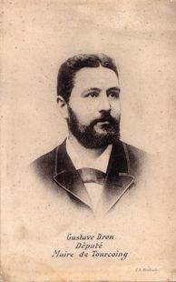 Portrait de Gustave Dron, vers 1900. Archives municipales de Tourcoing, série Fi supplément.