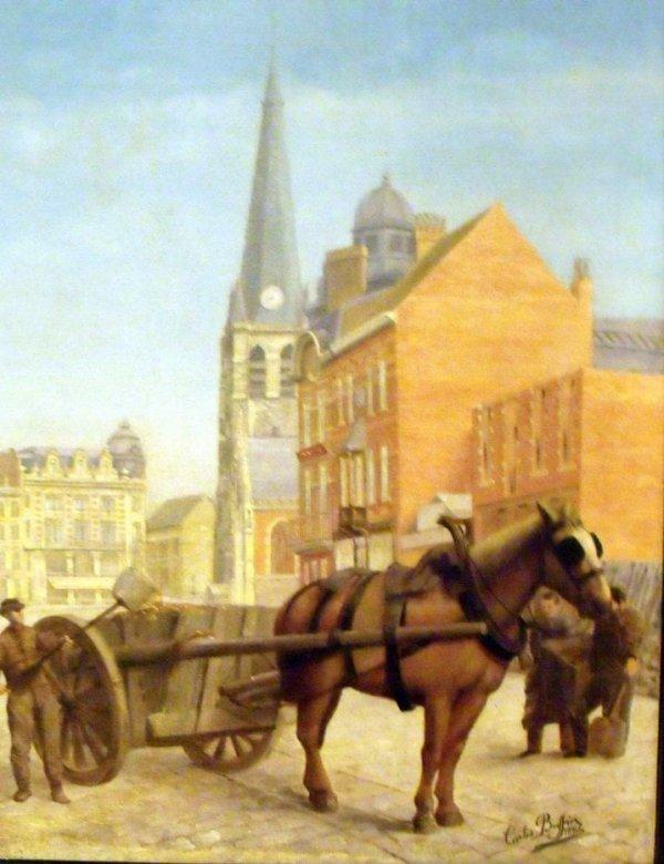 Peinture du centre ville de L'ancien Tourcoing.