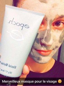 Premier test d'un masque de boue !