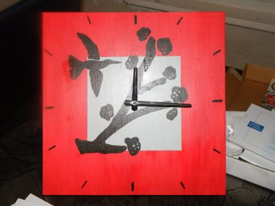 Horloge en bois