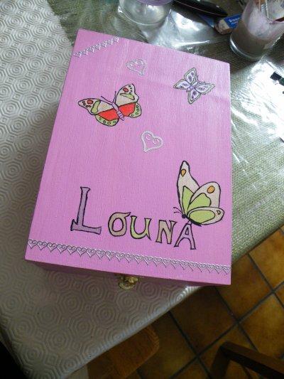 Boite a photos papillon pour petite fille