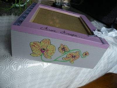Une autre petite boite avec cadre photo en verre