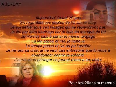 Poeme De Sa Maman Pour C 20 Ans Hommage à Jay De Sa Maman