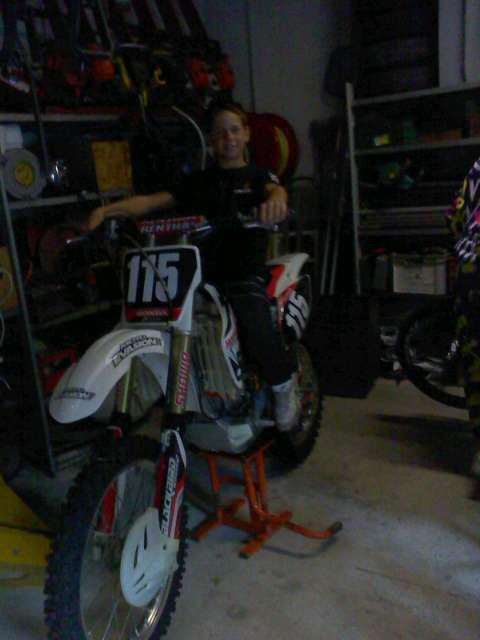 moi et la moto cross 250