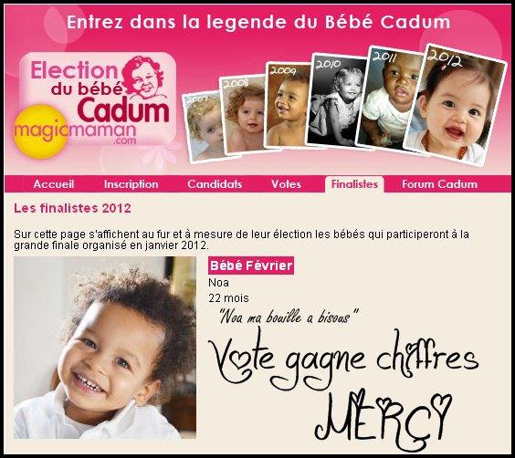 Votez pour NOA petit métis Brésil / Haiti