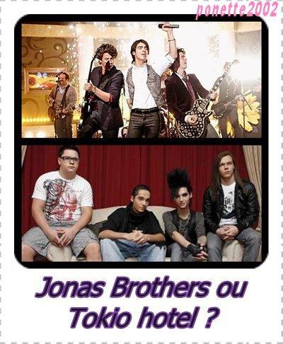 Jonas Brothers VS Tokio Hotel