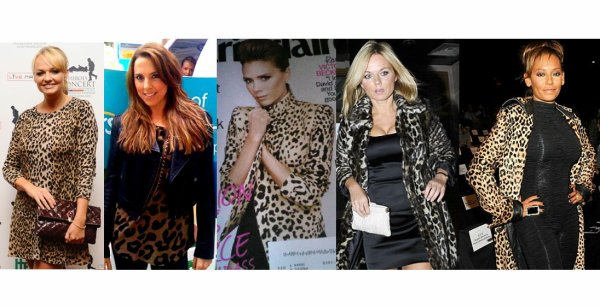 SPICE GIRLS IN LEOPARD SKIN
