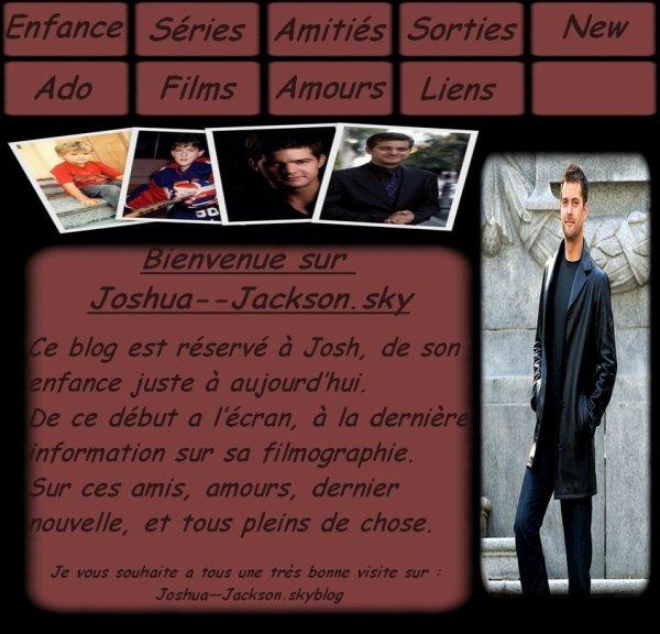 """...   ...  BIENVENU SUR JOSHUA--JACKSON CE BLOG EST UNIQUEMENT SUR """"JOSHUA JACKSON""""  ...   ...  Retrouver moi aussi sur :  .......... Josh-Dawson (blog sur Dawson) .......... Josh-Fringe (blog sur Fringe)  ..."""