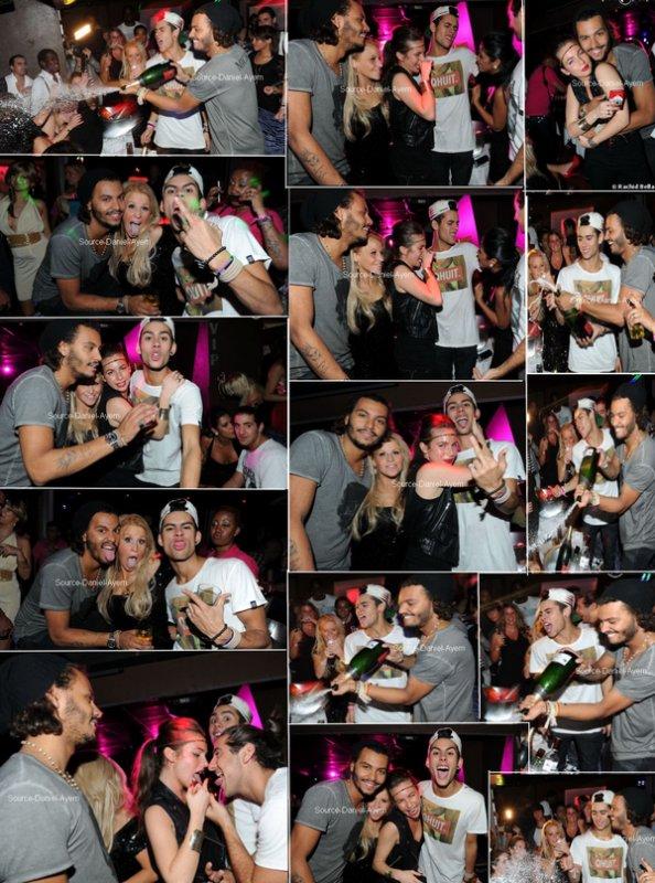 """Ayem, Daniel, Simon , Juliette, Rudy et Sabrina au Duplex le 30 Septembre pour la soirée """" Prestige Story """" ."""