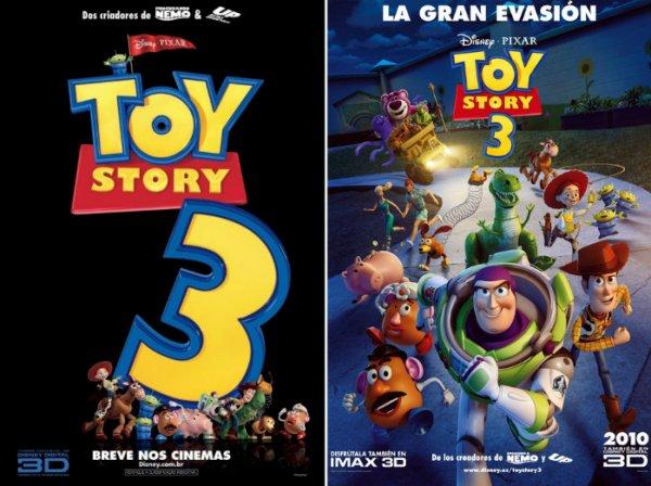 Affiches mondiales de Toy Story 3