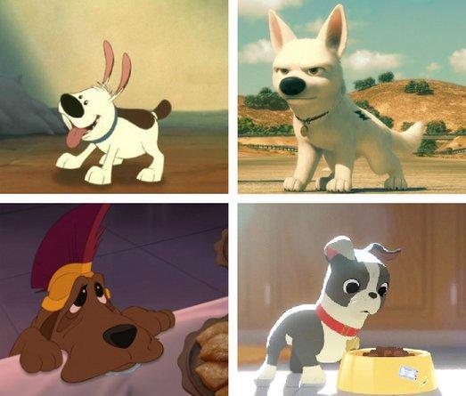 Les chiens dans les films d'animation Disney et Pixar
