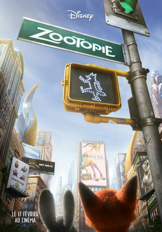 Nouvelle affiche promotionnelle pour Zootopie