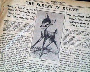 Anniversaire de sortie : Bambi
