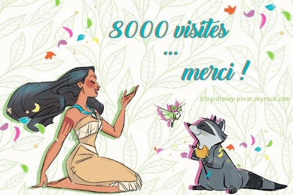 8000 visites ! Merci !