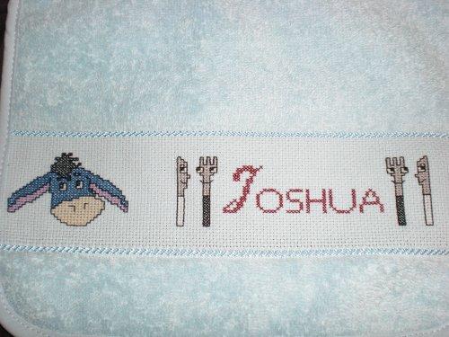 Bavoir pour mon neveu Joshua