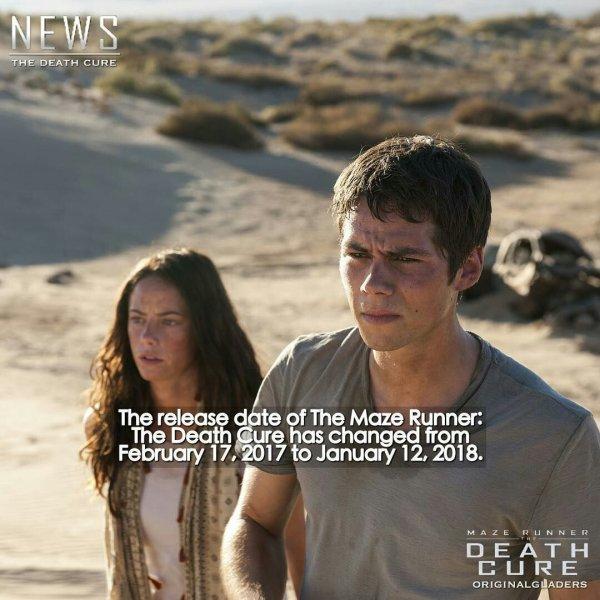 The Death Cure reporté au 12 janvier 2018...