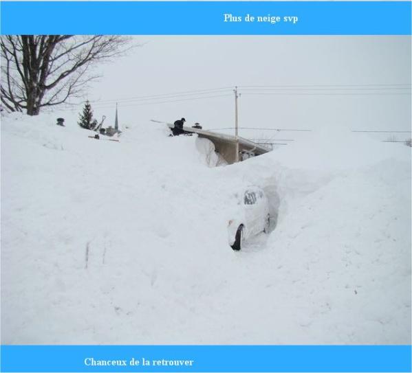 neige au Canada