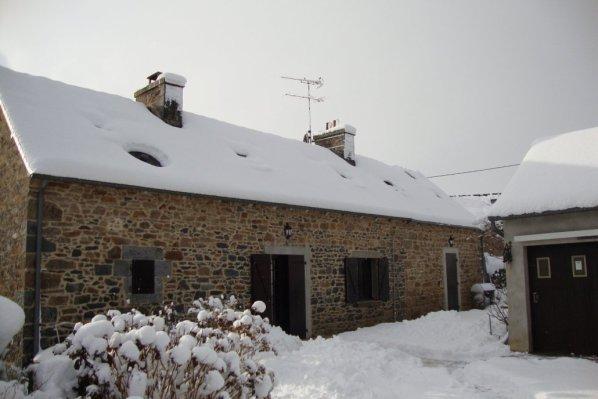 neige en Bretagne 1er décembre 2010   chez  nous