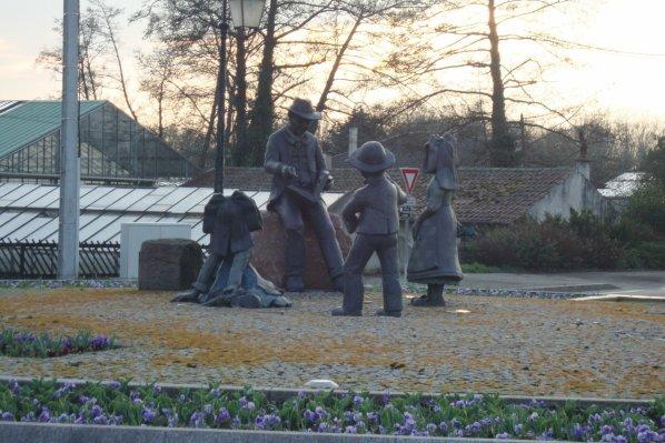 rond point Hansi à Sausheim  2éme série