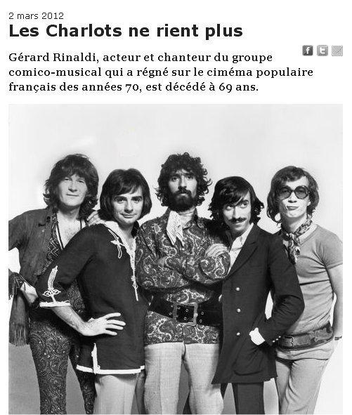 décés de Gérard Rinaldi