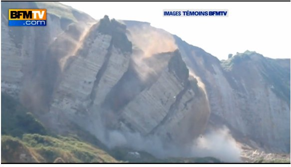 effondrement d'une falaise