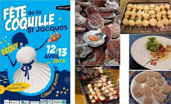 Erquy  ,   fête de la coquille St Jacques