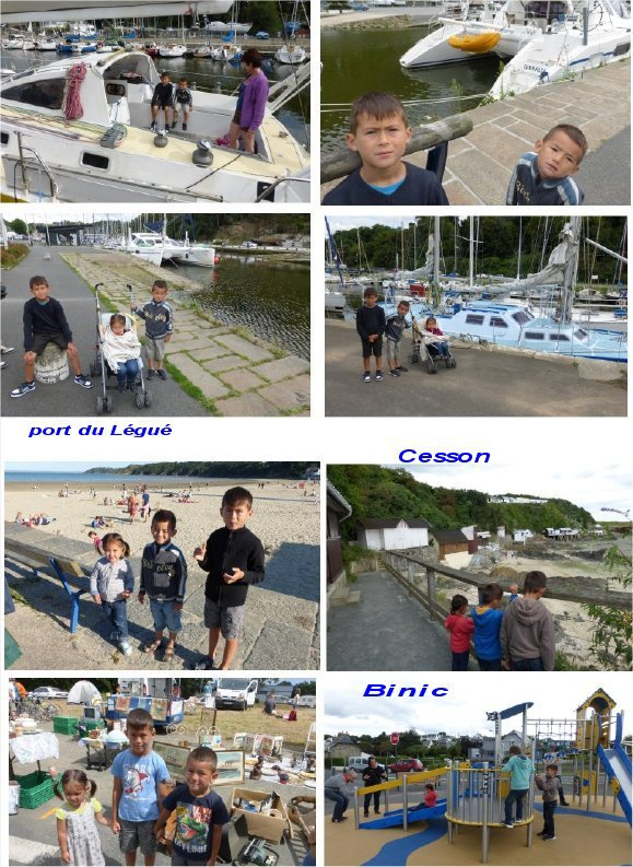 vacances des  3    petits enfants