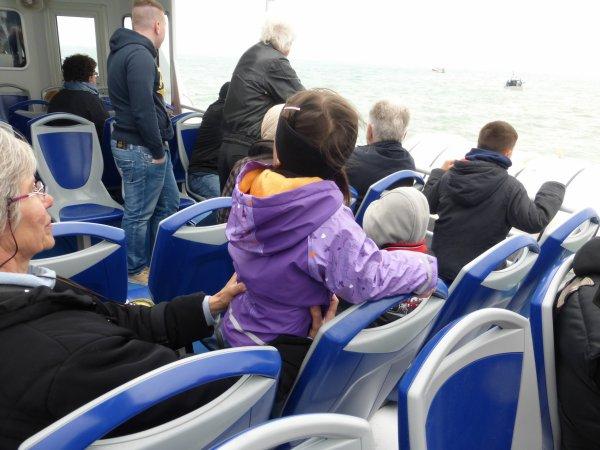 sortie en mer avec les petits enfants