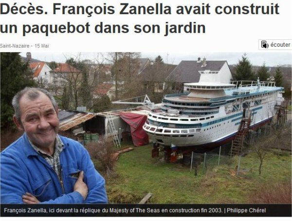 François Zanella , capitaine du Majesty of the seas