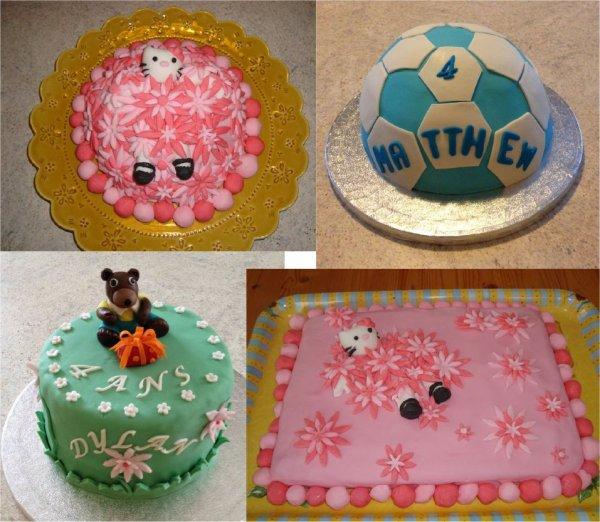 gâteaux  en pâte à sucre