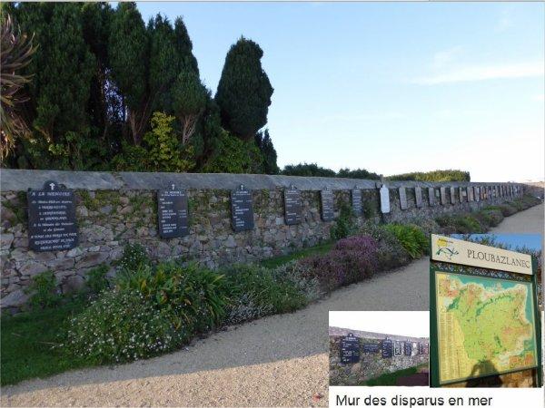 le mur des  disparus cimetière de Ploubazlanec