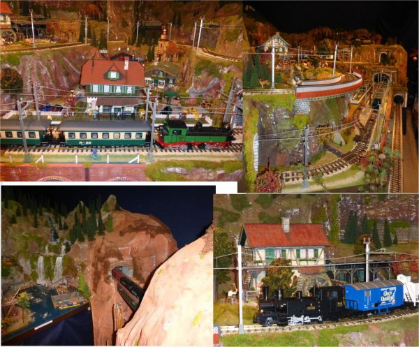 trains miniatures pour  Noël