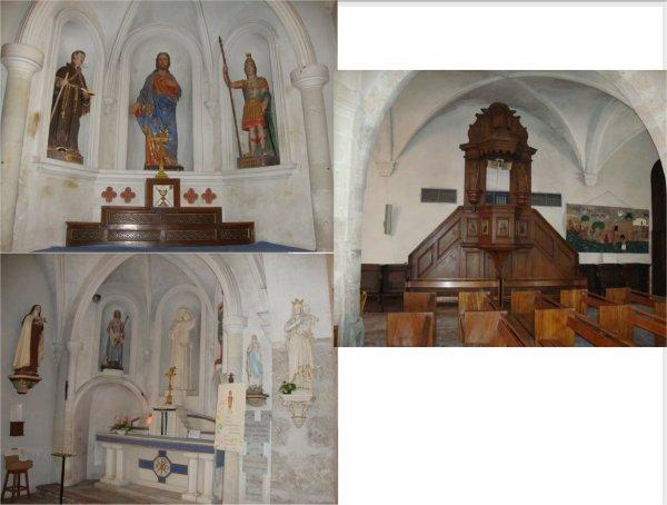 un  village  ,  une  église