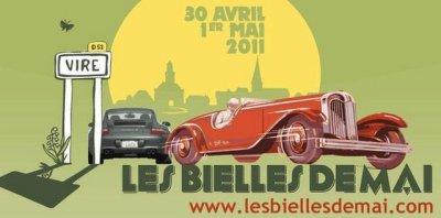 """Les """"Bielles de Mai""""  : Rassemblement automobiles  Du 30 avril au 1er mai à vire 14500"""