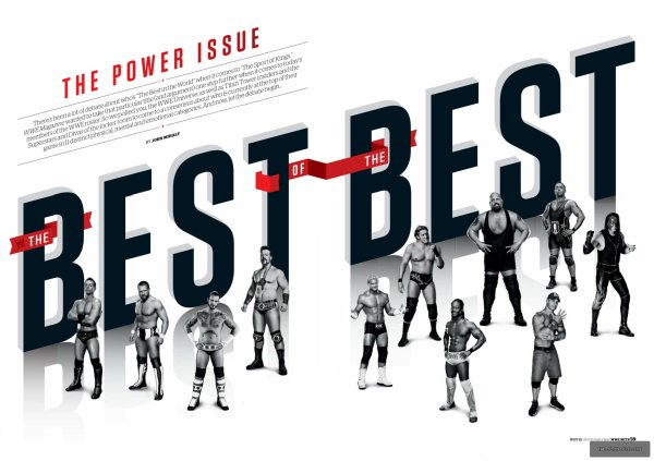 """WWE Mag' : J'ai ajouté 3 Scans de la dernière édition du WWE magazine qui est intitulée """"The Power of Issue"""". The Miz est en vedette dans The """"Best of the Best"""", et il a été élu : """"Le mieux habillé""""."""