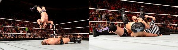 The Miz & Dolph Ziggler Vs Chris Jericho! [WWE Raw 30/07/2012]! Une très belle affiche sur le papier! Avec les rivalités Miz/Christian et Ziggler/Jericho, le nouveau GM AJ a décidé d'organiser ce match! Au début Miz et Ziggler ne sembaient pas s'entendre mais petit à petit ils se sont révélés comme un très bon duo! A la fin du match, Miz fait face à Jericho se retrouve dans le coin...et Christian lui met un doigt dans l'oeil! Chris fait donc son CodeBreaker pour remporter le match! Après ça, Ziggler intervient et frappe Chris avec sa malette!