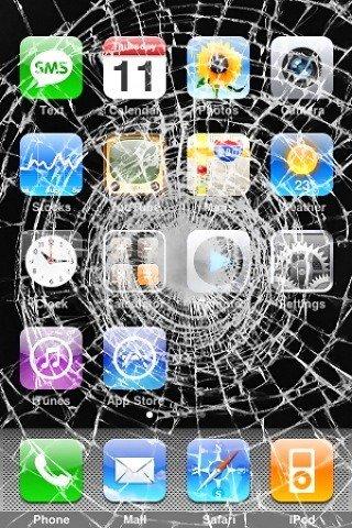 Fond Decran Iphone Ecran Casse