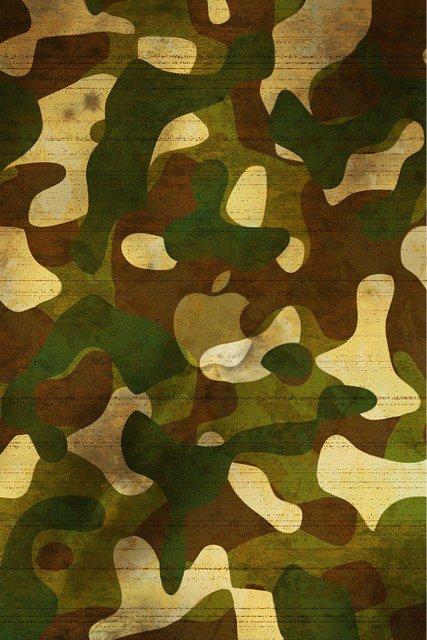 fond d'écran pomme sur camouflage