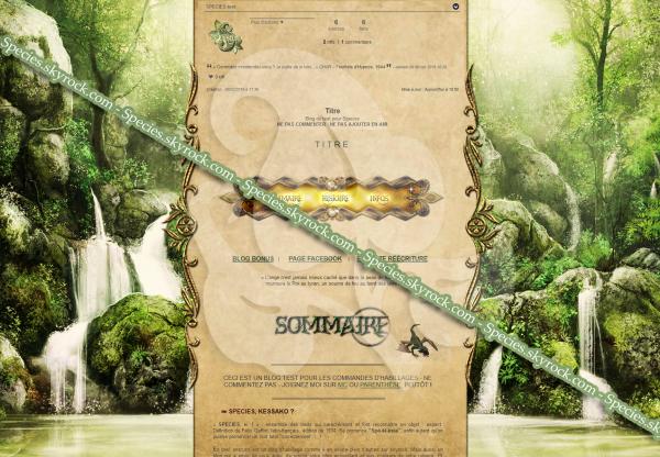 Habillage 65 - Fantasy forest