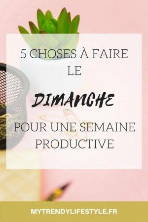 5 CHOSES A FAIRE LE DIMANCHE