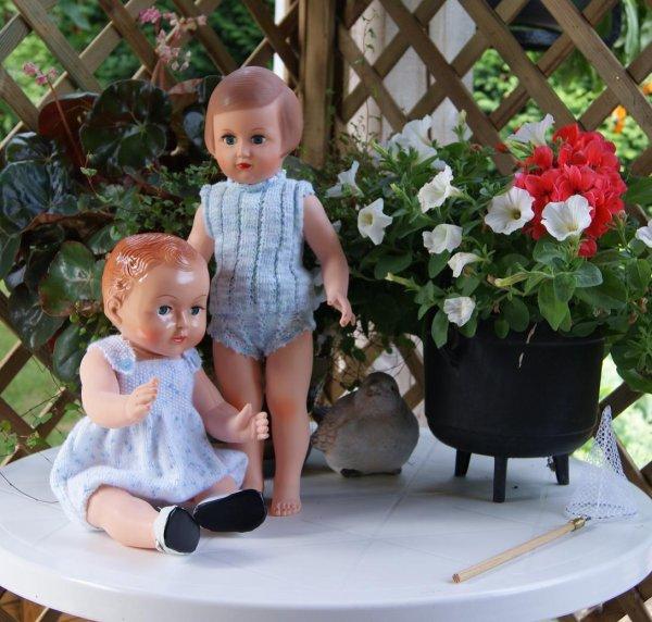 Françoise et Michel en tenue légère