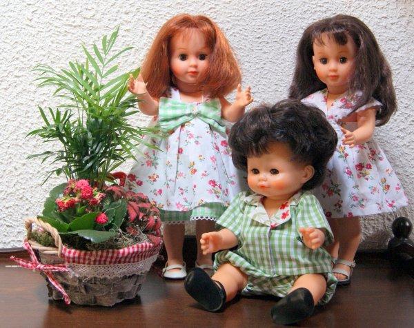 Mes petites Marie-Françoise et leur petit cousin