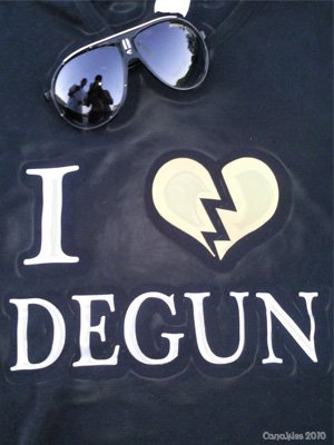 "T-shirt "" I ♥ DEGUN """