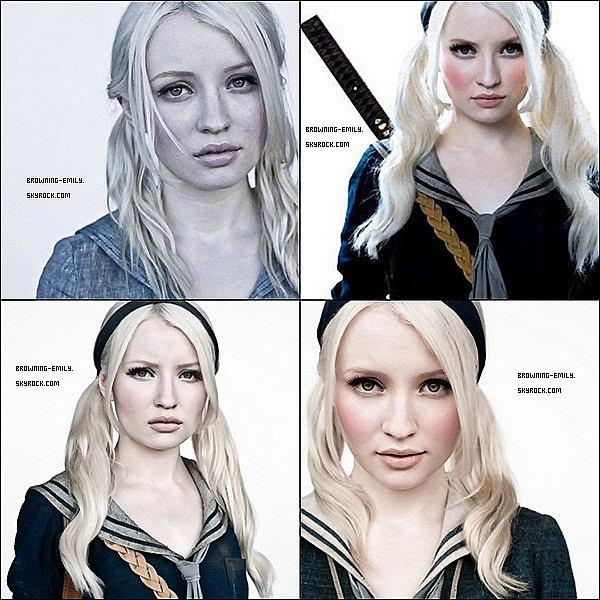 . Decouvre ou redécouvre un photoshoot promotionelle d'Emily pour Sucker Punch    .