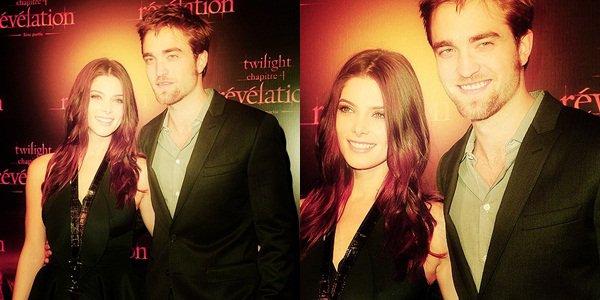 Comme prévu, Robert Pattinson et Ashley Greene étaient présent au fan event à Paris qui s'est déroulé hier au Cinéma Gaumont Opéra. Robert avait la classe, et Ashley était resplendissante !  $)