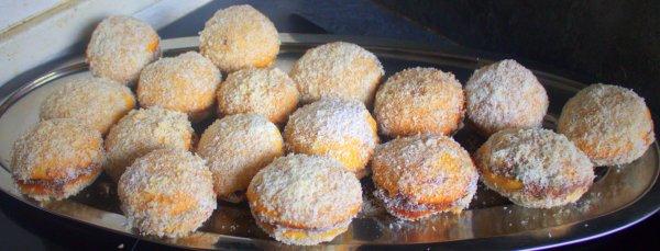 Gateaux Marocain boule de neige aux nutella noisette miel noix coco