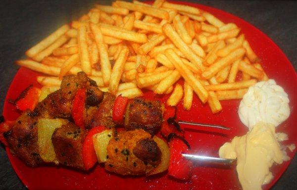 Brochettes de porc aux epices