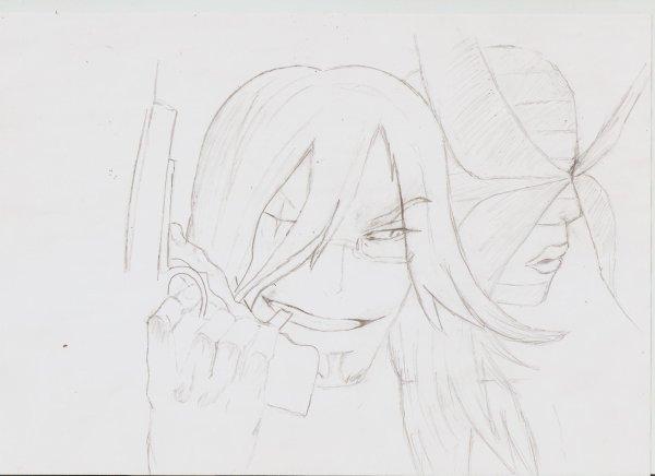 dessin de Cross Marrian et Maria (j'ai eu du mal pour ceux là -_-)